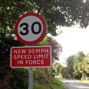 New 30mph speed limit in force
